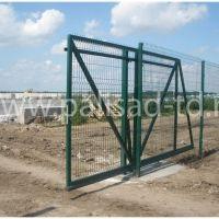 Ворота откатные с заполнением 3D