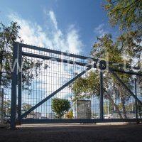 Откатные консольные ворота