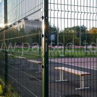 Ограждение спортивной площадки из панелей 3D