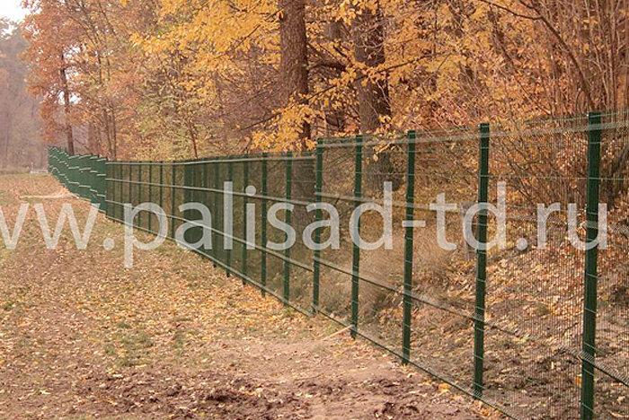 Ограждение лесопарковой зоны, Краснодарский край. Тип 3D