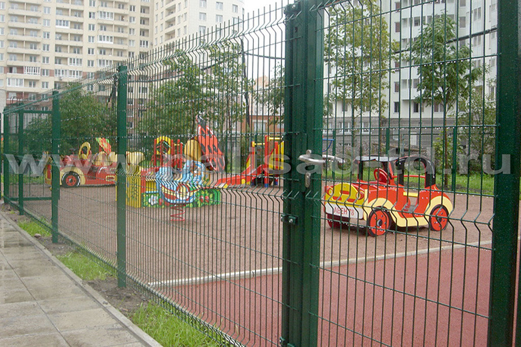 Ограждение детских площадок, Санкт-Петербург, Васильевский остров. Тип 3D