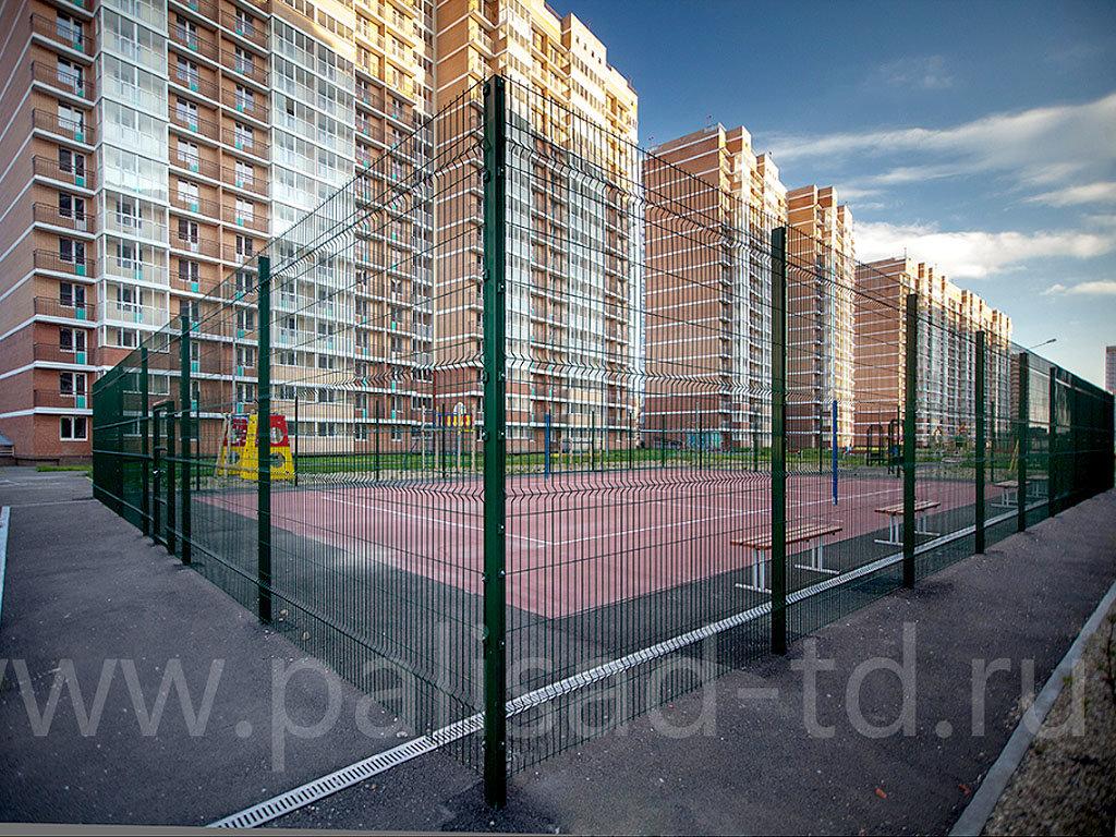 Ограждение детской спортплощадки. Жилой комплекс, г. Краснодар. Тип 3D