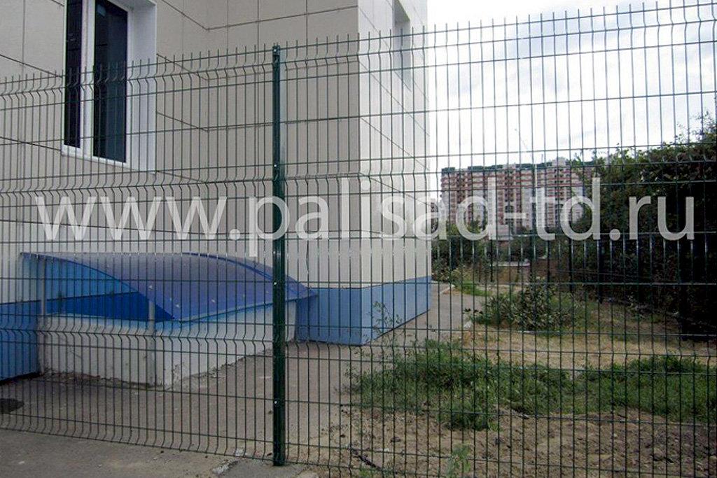 "Ограждение территории бизнес-центра ""Арбат"", Краснодар. Тип 3D"